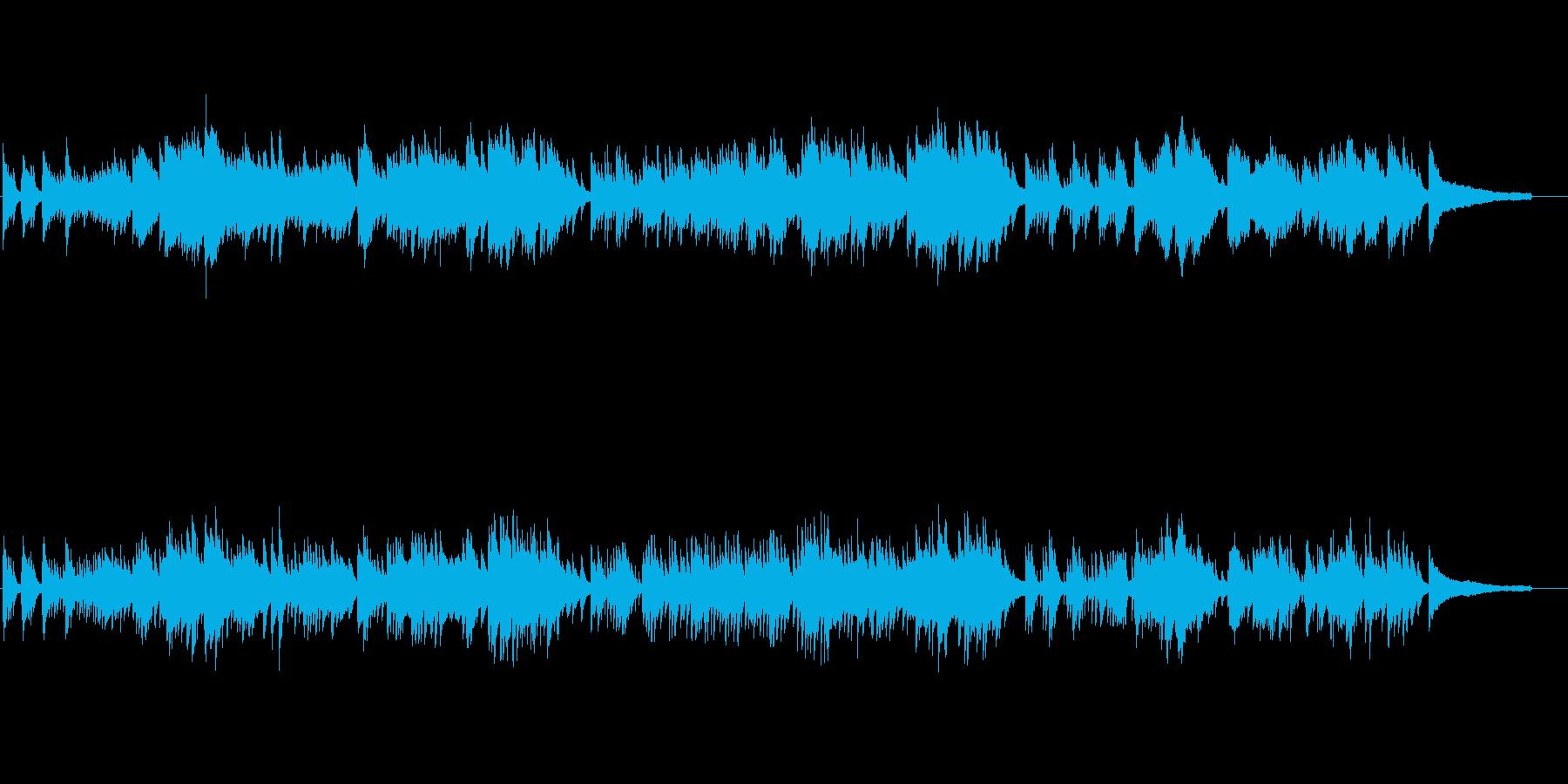 やや日本的な旋律のしっとりピアノソロ楽曲の再生済みの波形