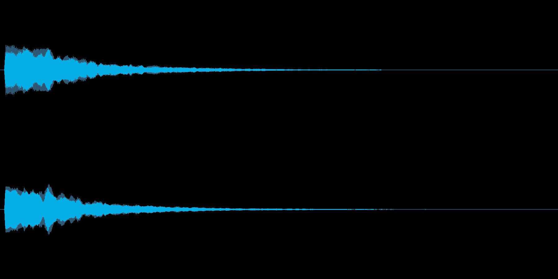 カーソル移動音 マウスオーバー等を想定の再生済みの波形