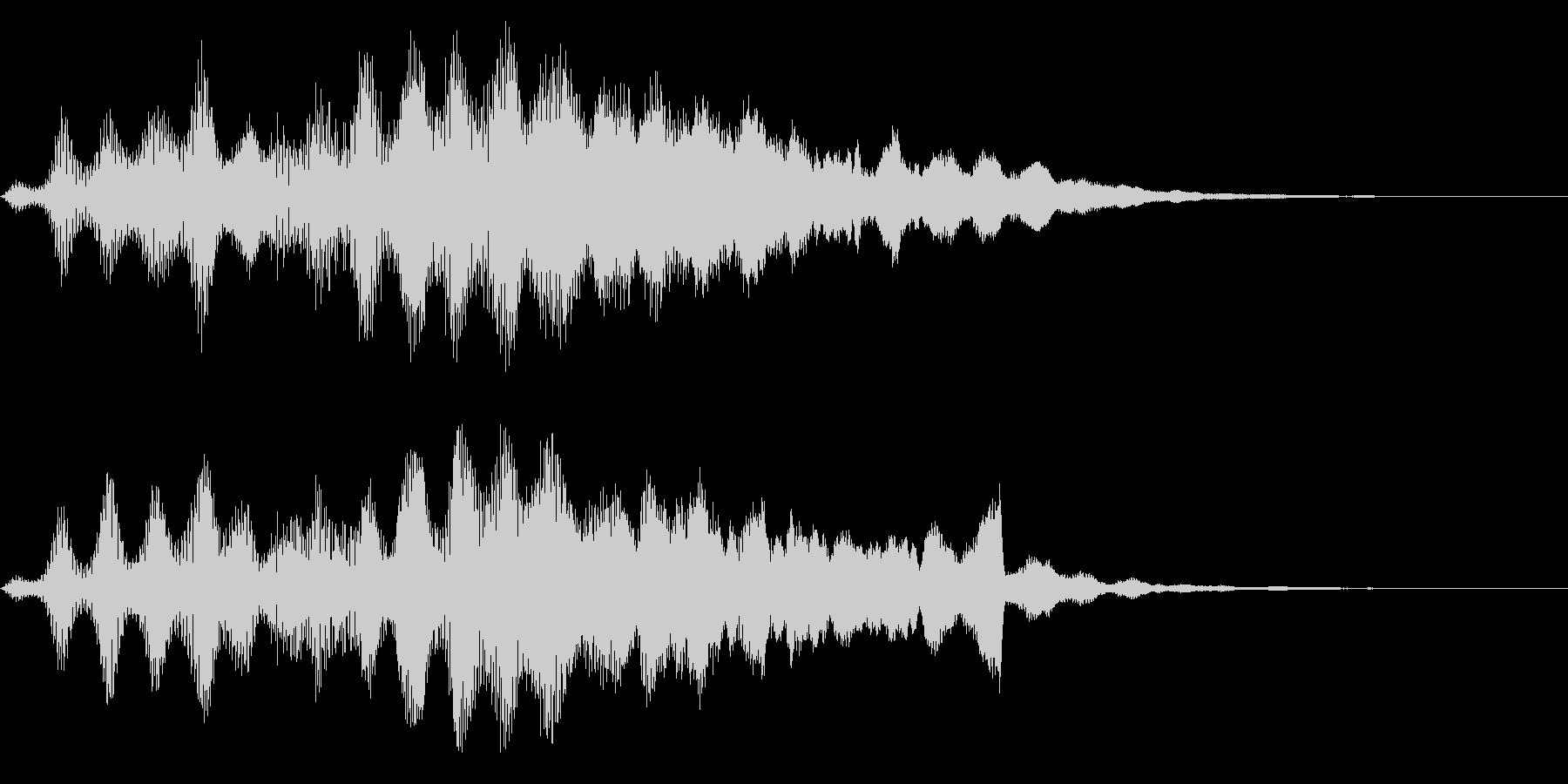 シンセ+ピアノ逆再生サウンドロゴの未再生の波形