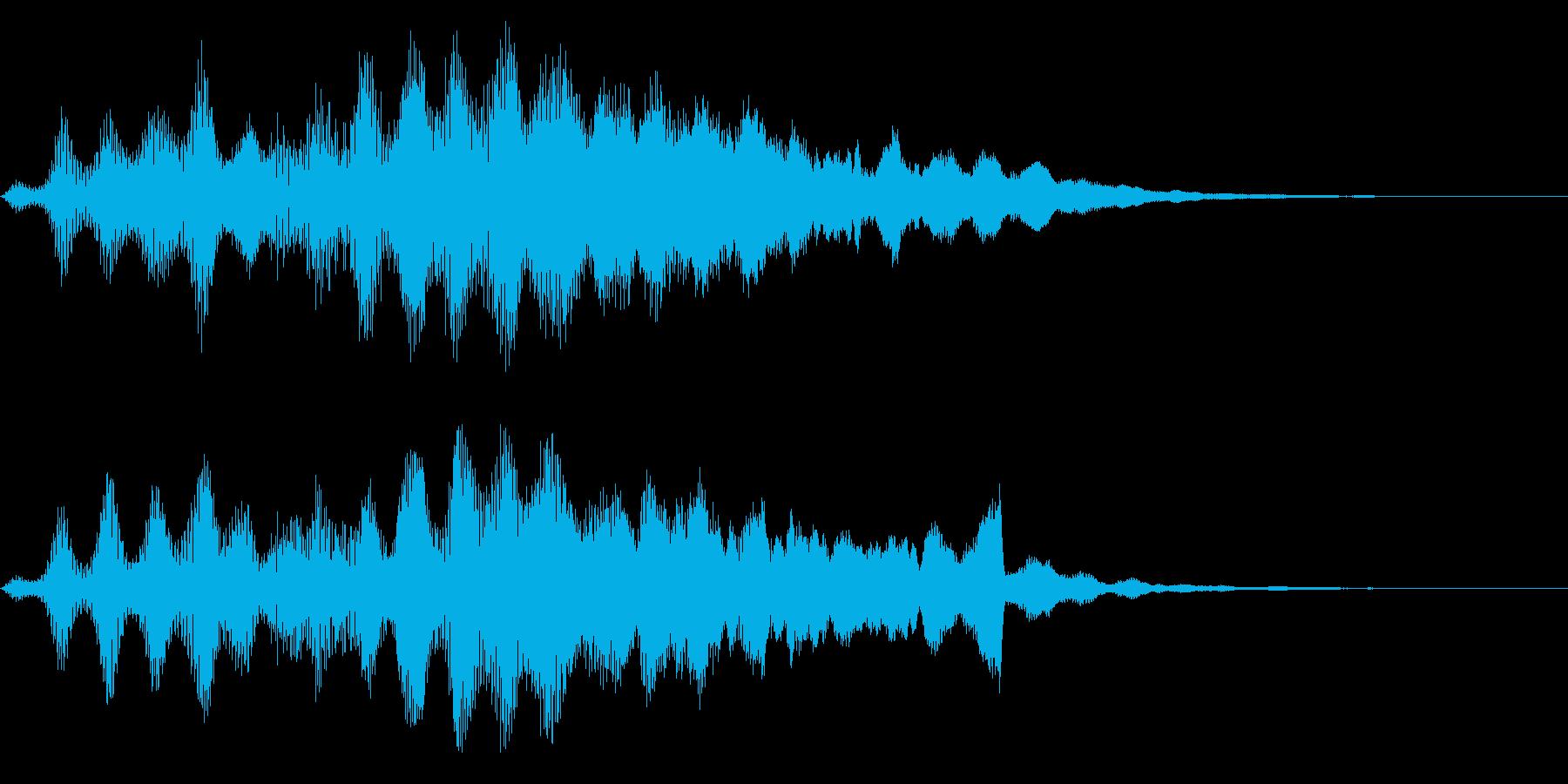 シンセ+ピアノ逆再生サウンドロゴの再生済みの波形