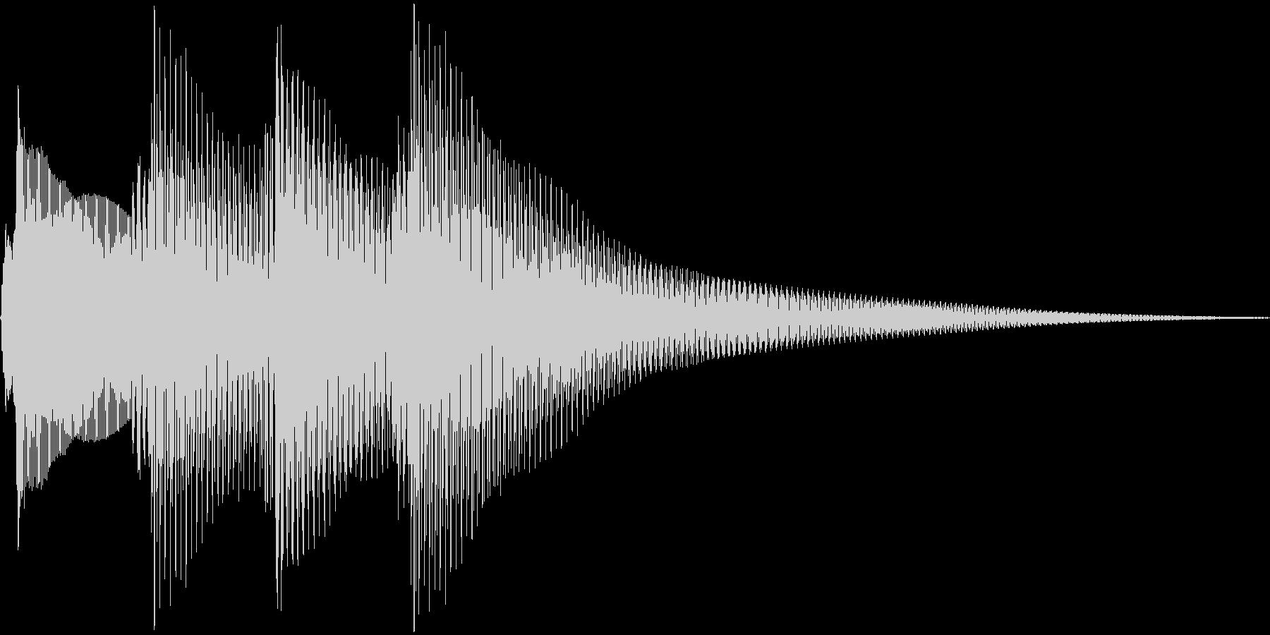 正解の音の未再生の波形