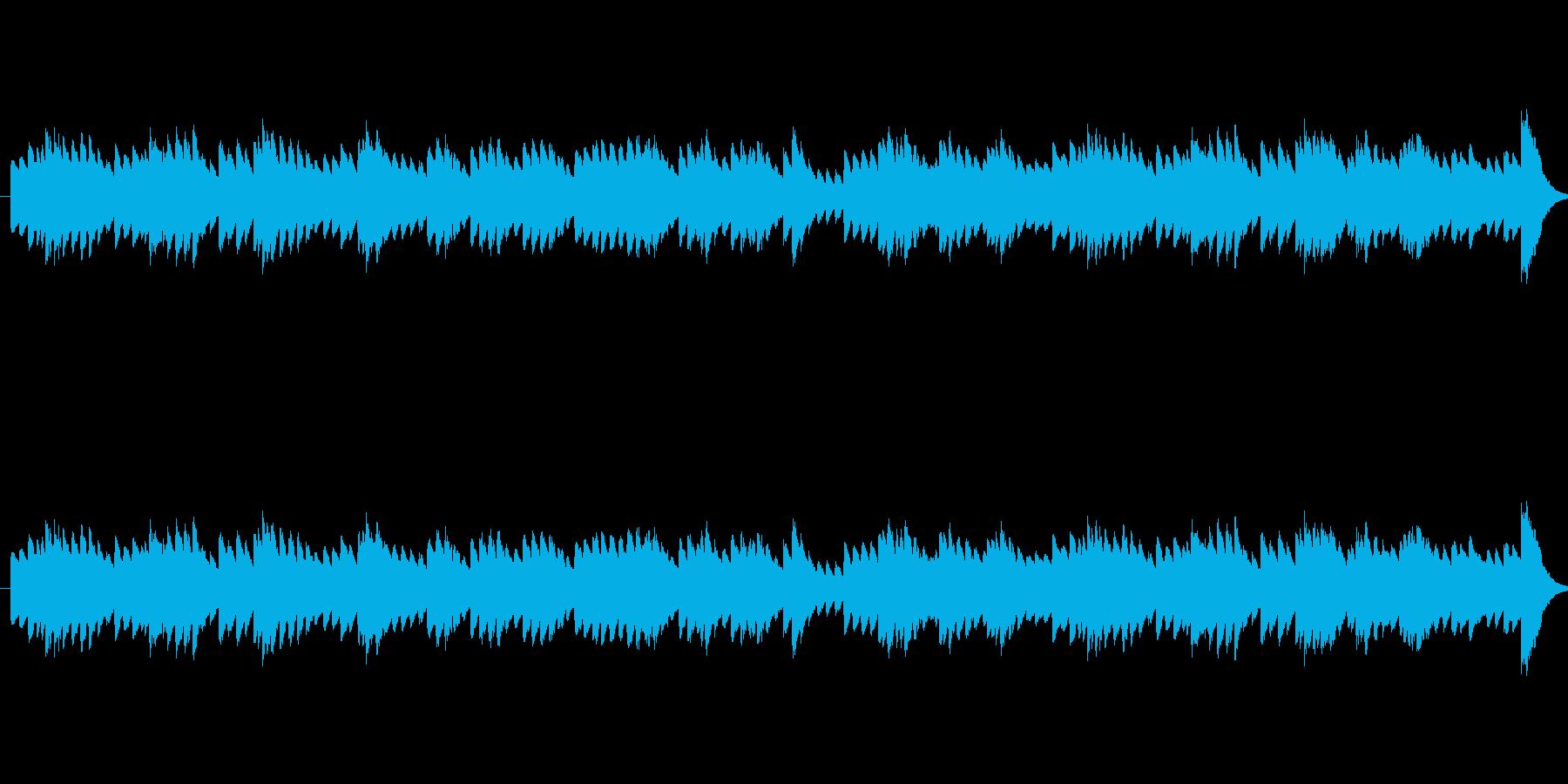 アルルの女メヌエットのオルゴールアレンジの再生済みの波形