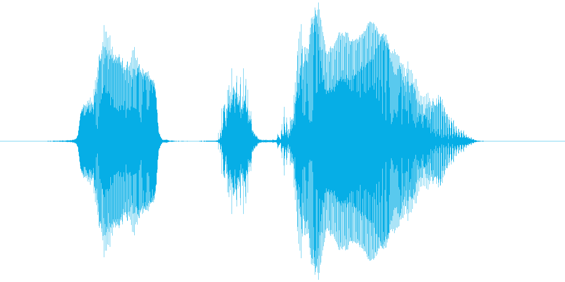 「レッツ・ゴー!」の再生済みの波形