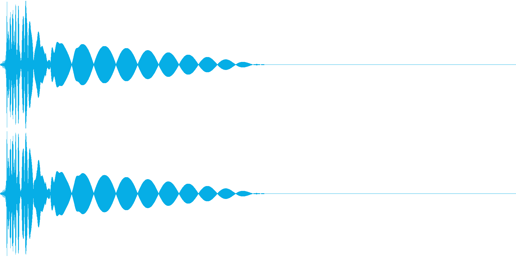 DTM Kick 2 オリジナル音源の再生済みの波形