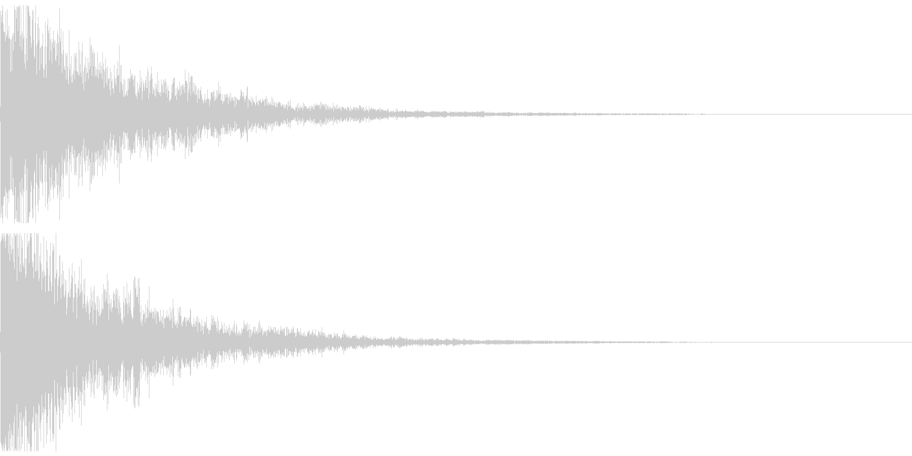 テレレン↓ クリアな響きのボタン音の未再生の波形