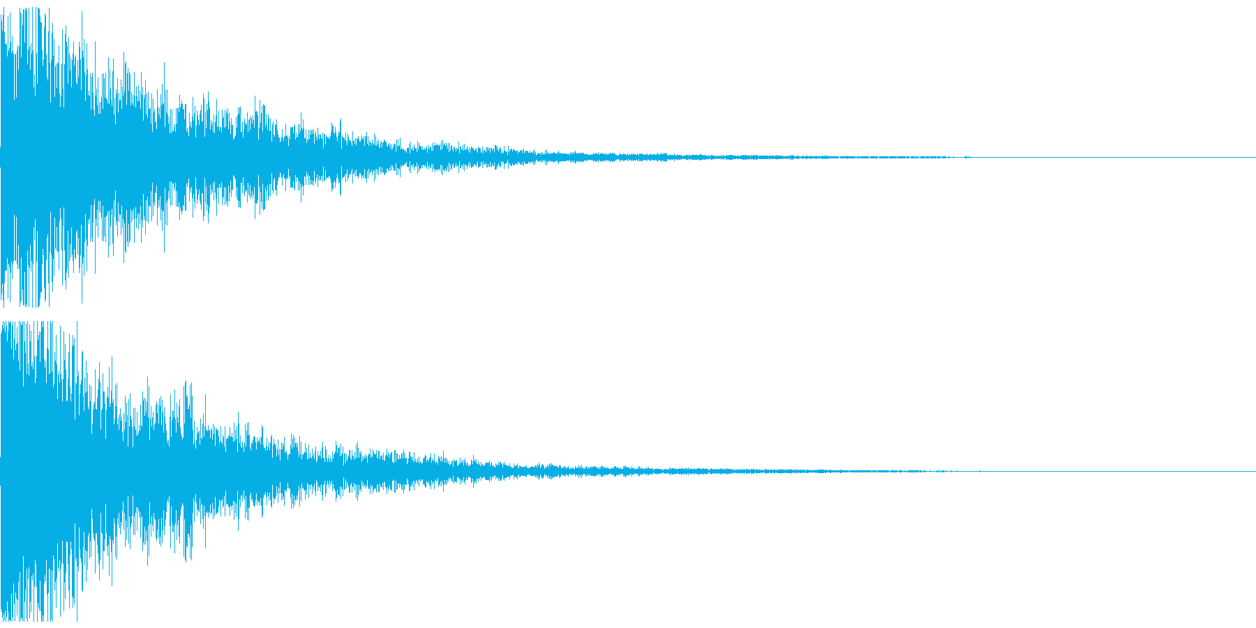 テレレン↓ クリアな響きのボタン音の再生済みの波形
