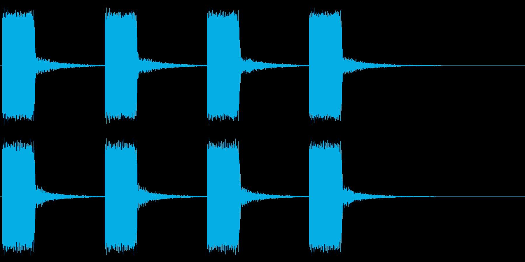 ブザー/工場/緊急事態/警報の再生済みの波形