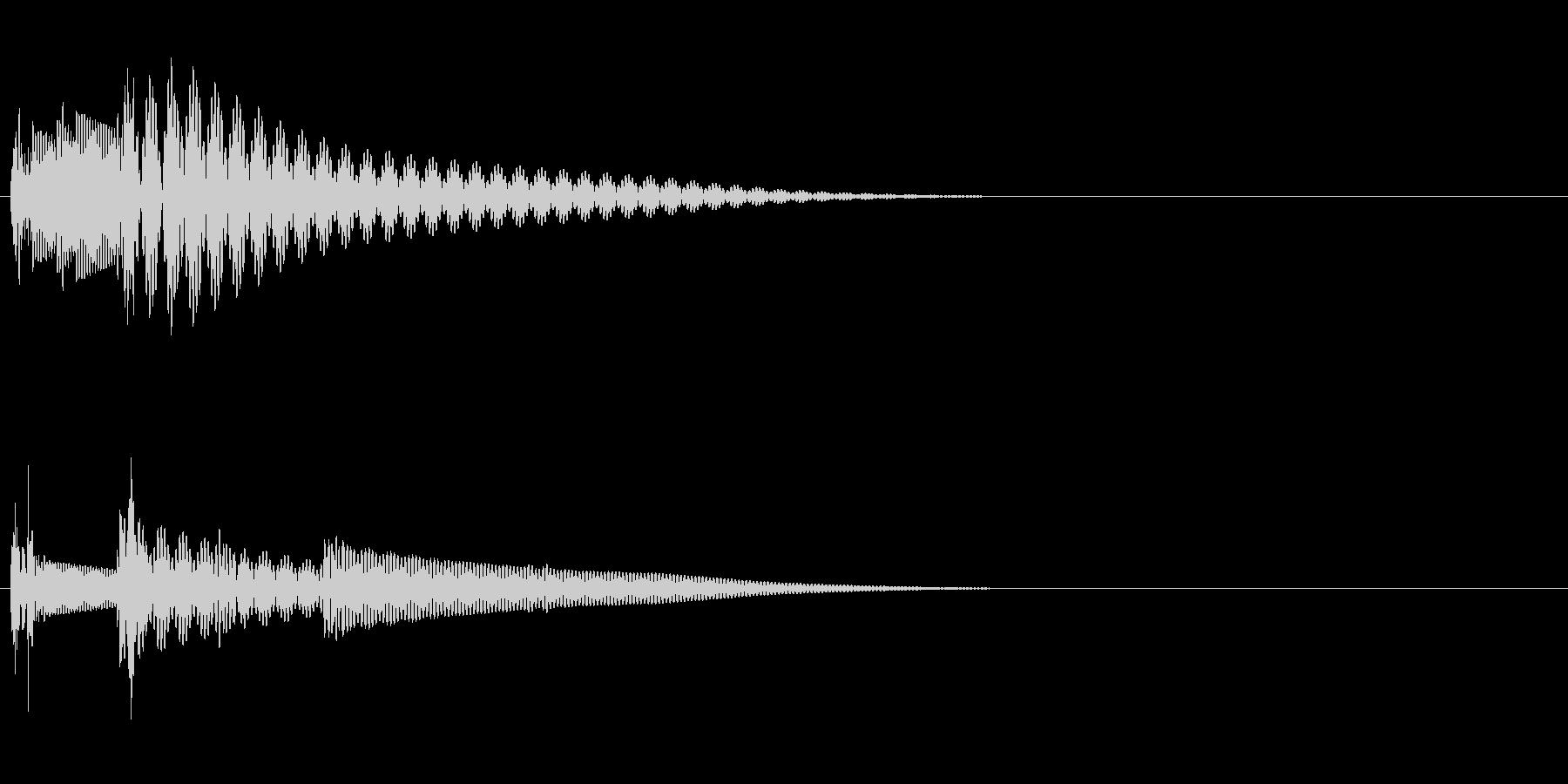 タタン(キャンセル音・戻る音)の未再生の波形
