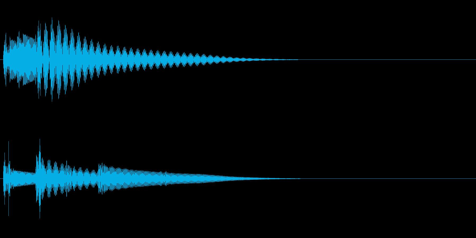 タタン(キャンセル音・戻る音)の再生済みの波形