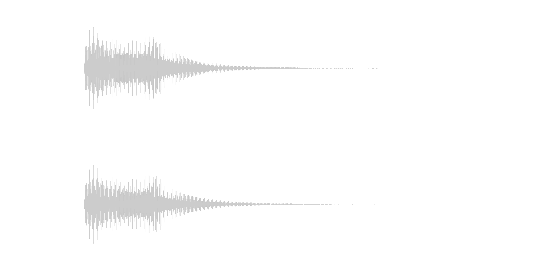 フィッ。 デジタル音。の未再生の波形