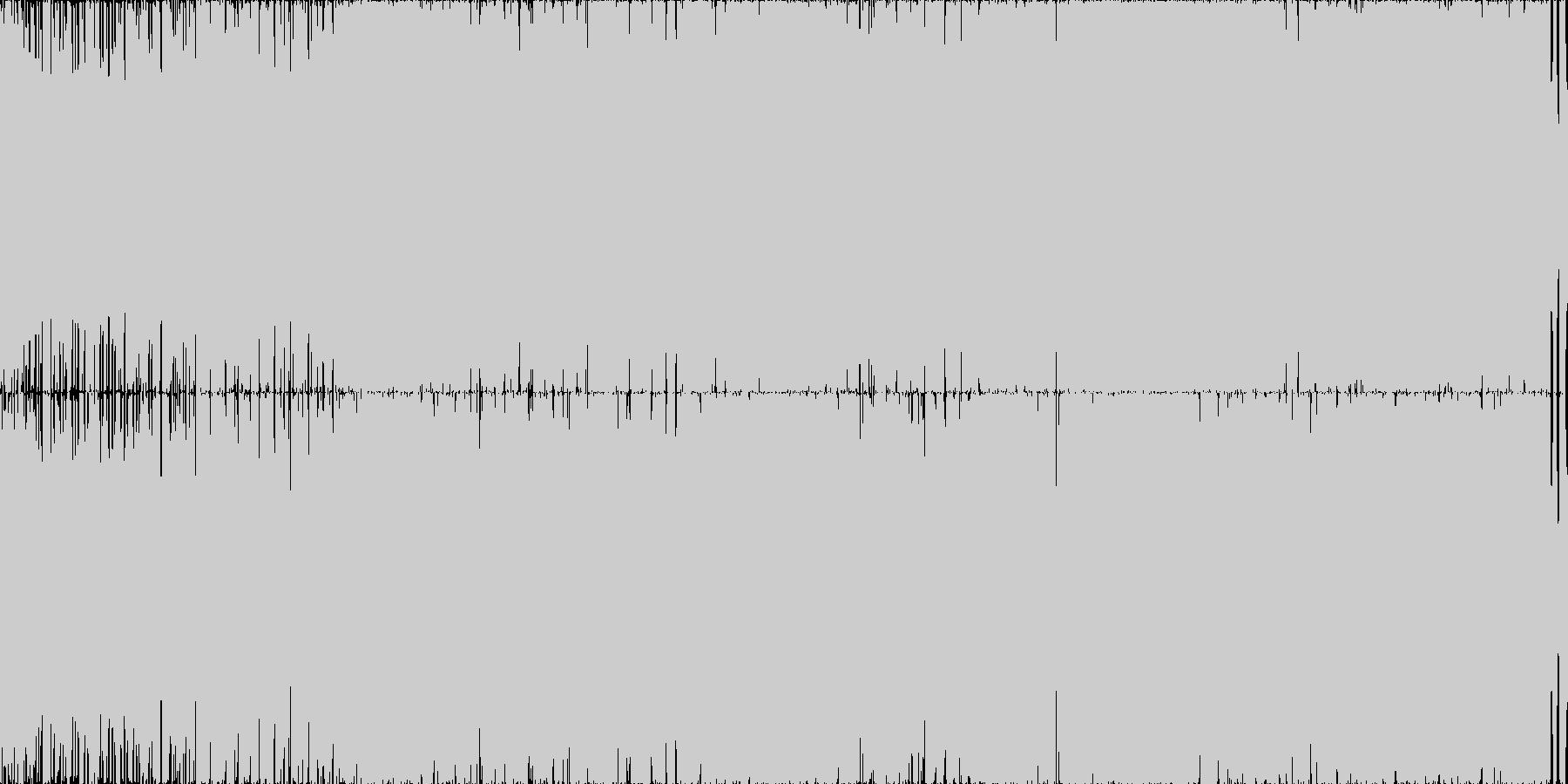 疾走感のあるハッピー・トランス・ループ◯の未再生の波形