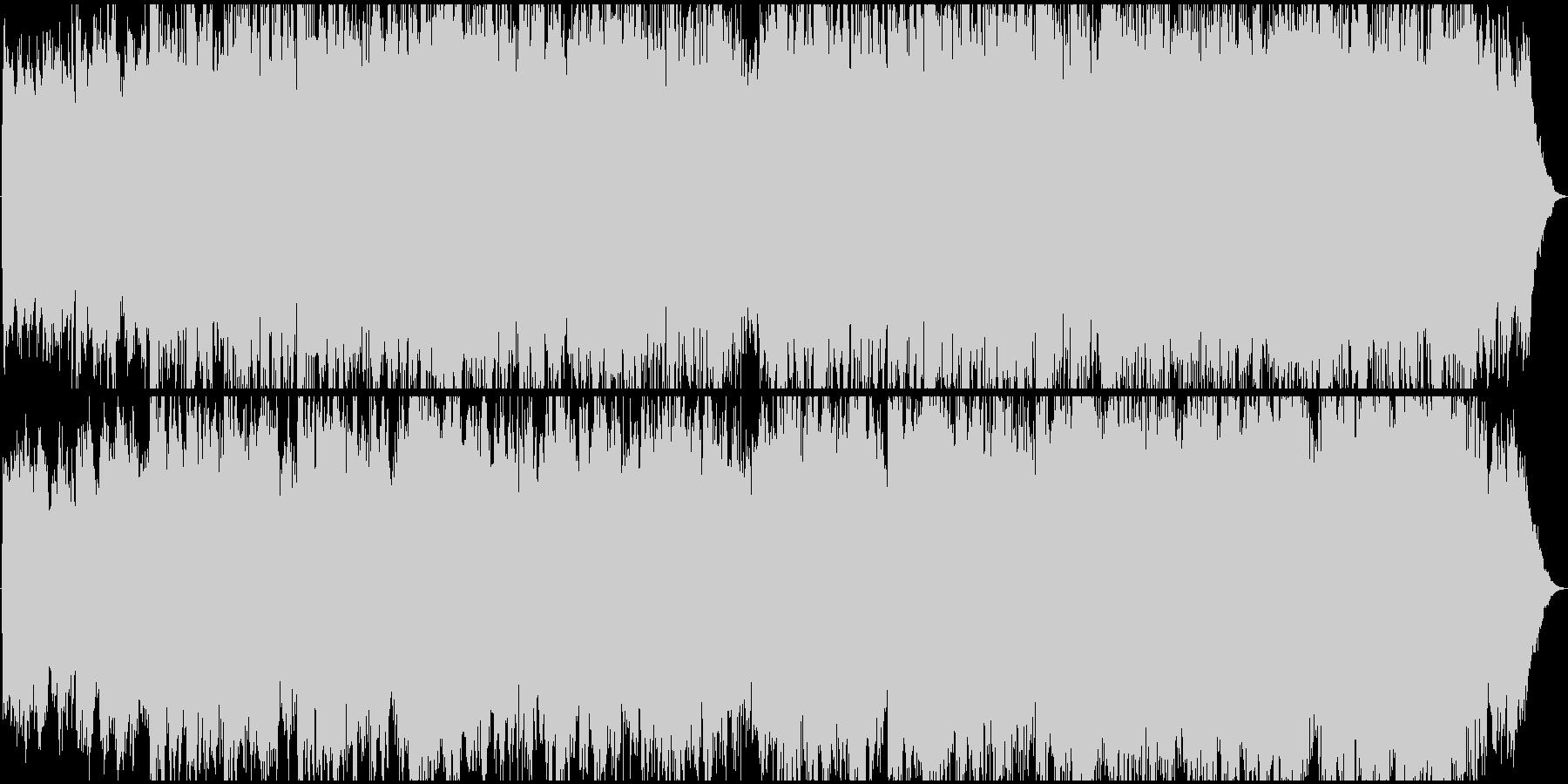 時代劇のオープニングの様な和風BGMの未再生の波形