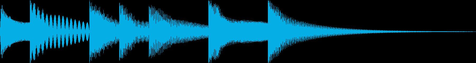 シンプルベル お知らせ ハテナ ? 26の再生済みの波形