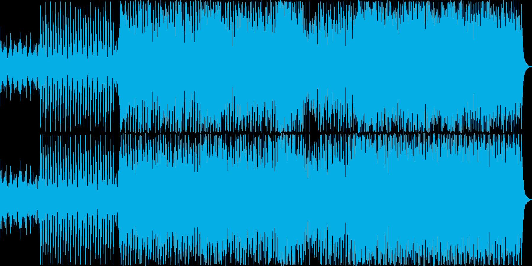 スピーディーなBGMです。の再生済みの波形