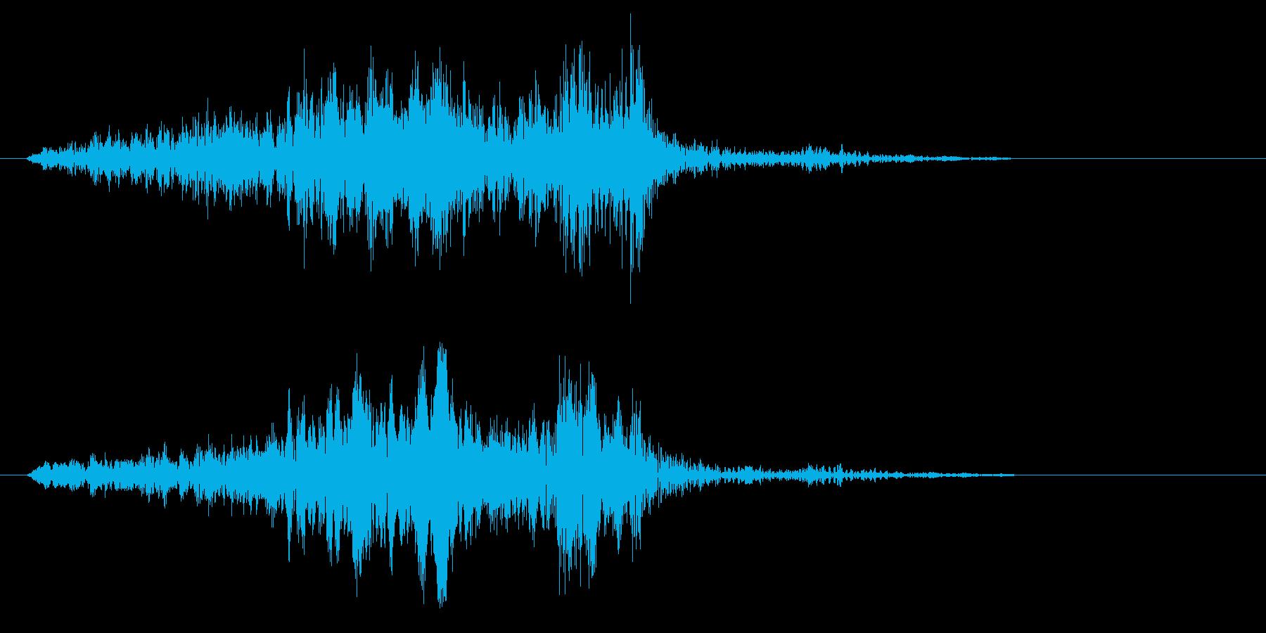 シャキーン(固い物の摩擦音)の再生済みの波形