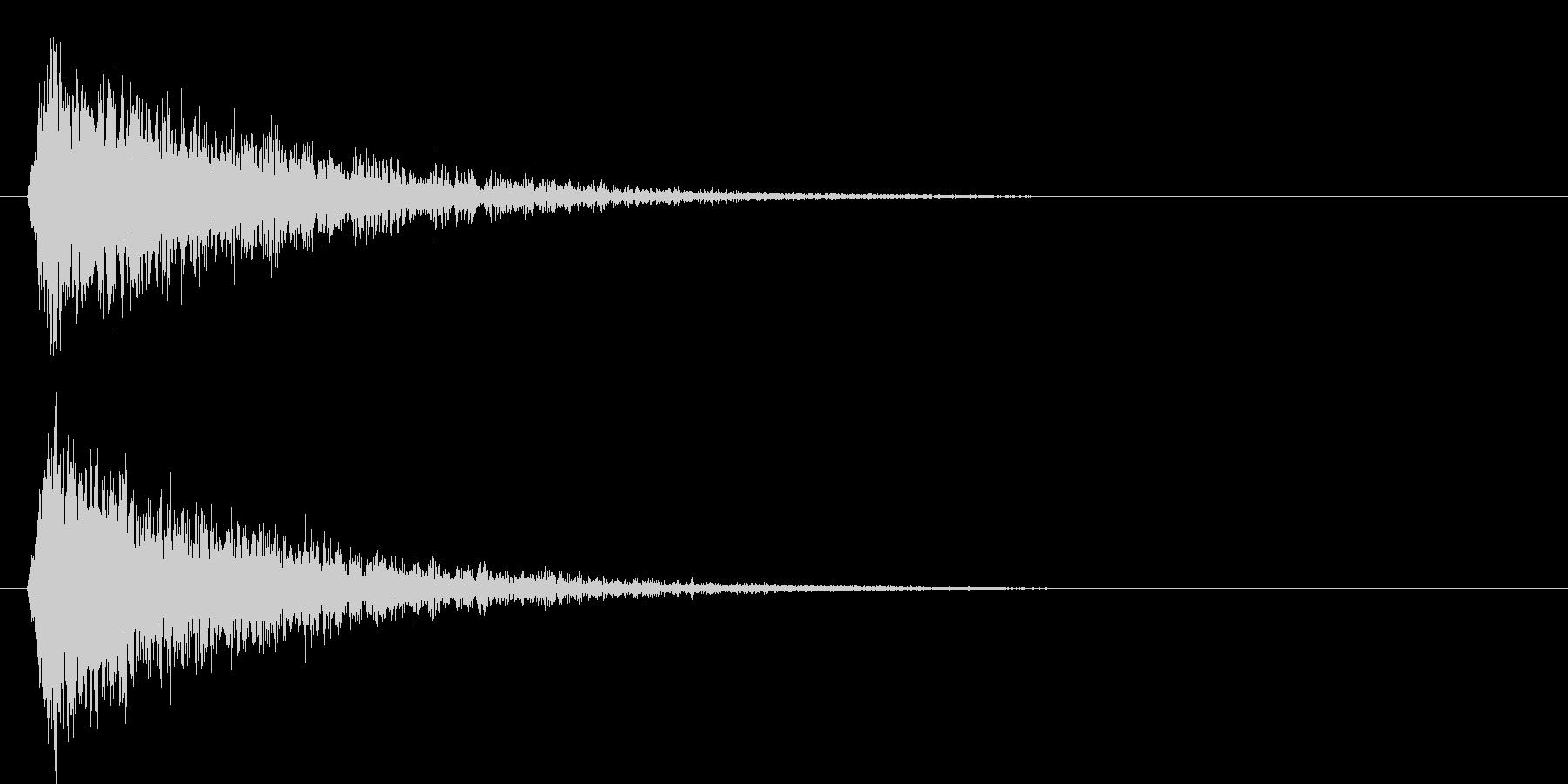 シャーン(斬撃音)の未再生の波形