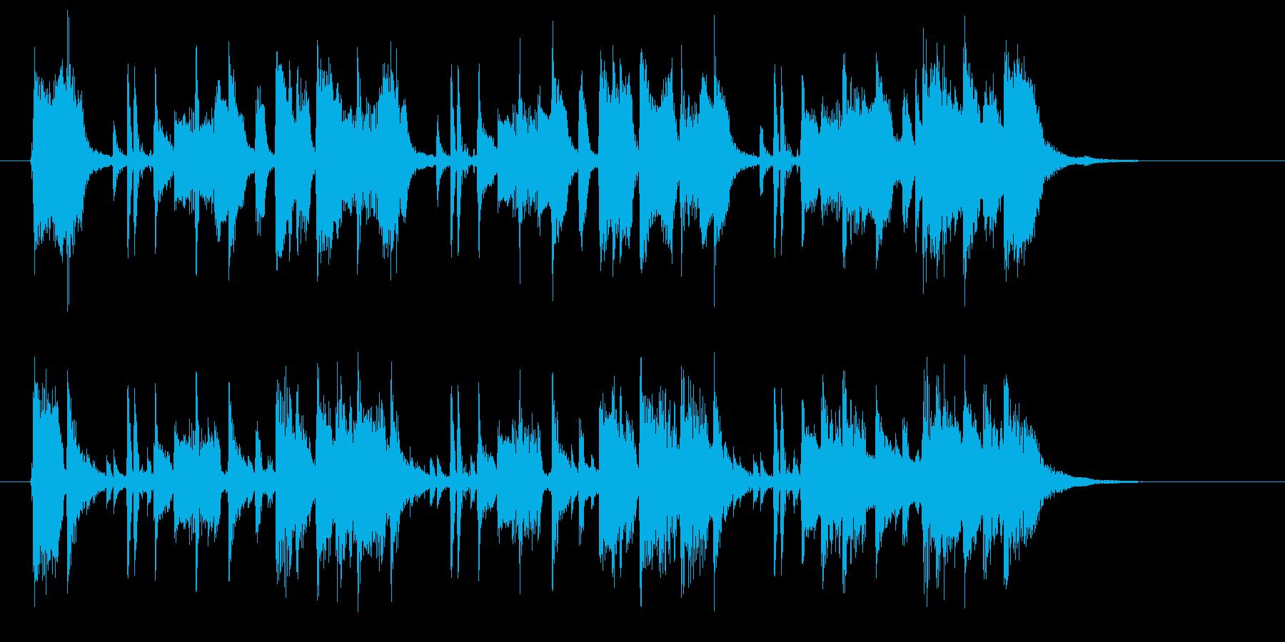爽やかで軽やかなシンセサウンドの再生済みの波形