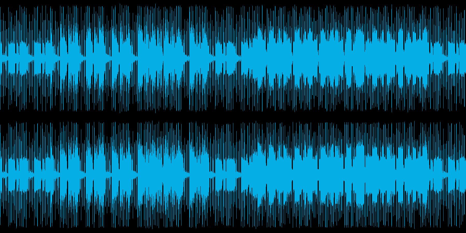 渋い雰囲気のチップチューンの再生済みの波形