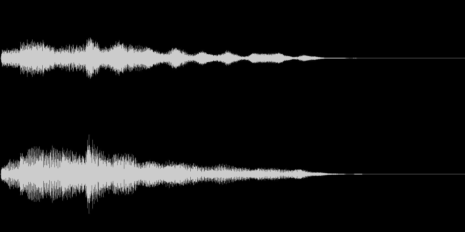 ピアノ、木琴(決定など何かが完結した音)の未再生の波形
