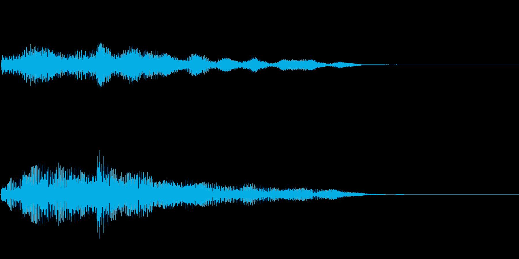 ピアノ、木琴(決定など何かが完結した音)の再生済みの波形