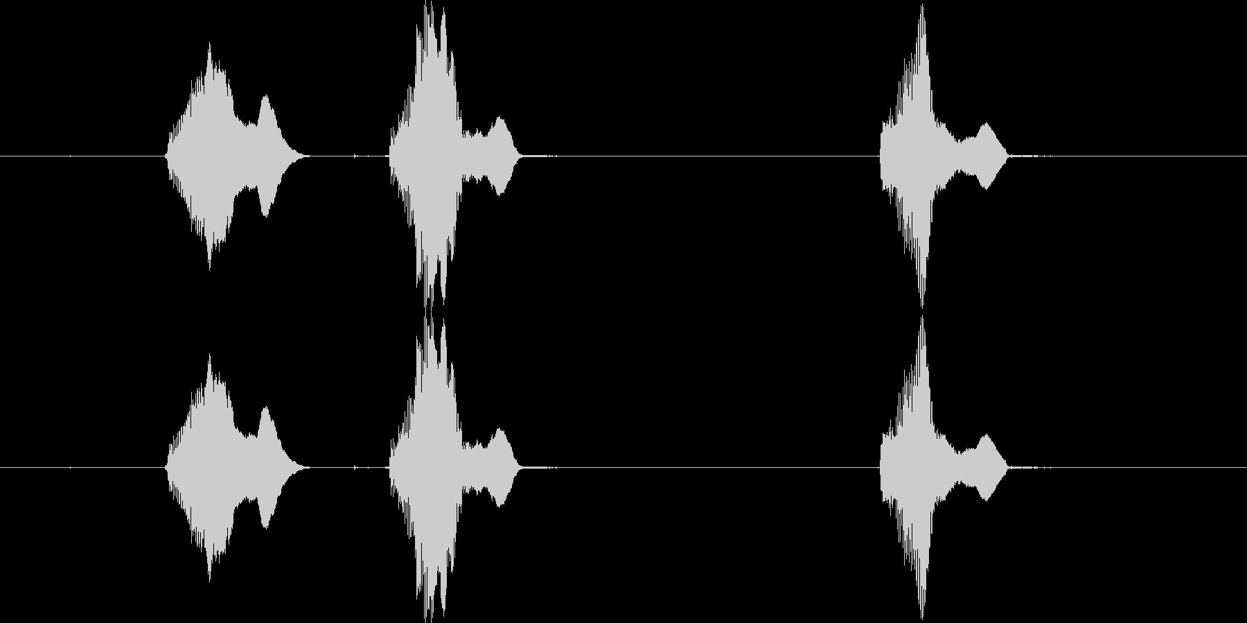 【動物】子犬の鳴き声「わんわん! or…の未再生の波形