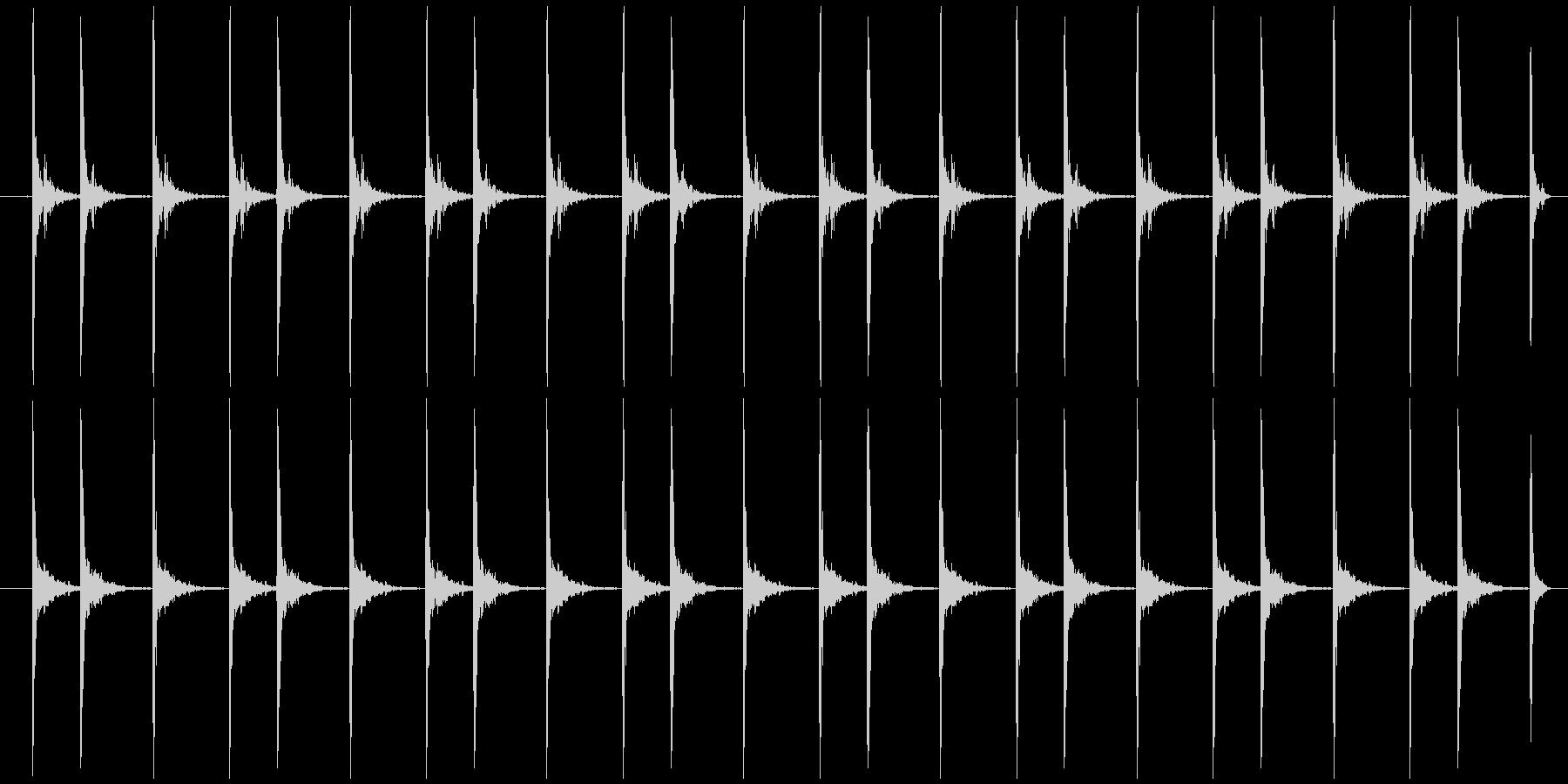 震える慌てる カタカタカタ…の未再生の波形