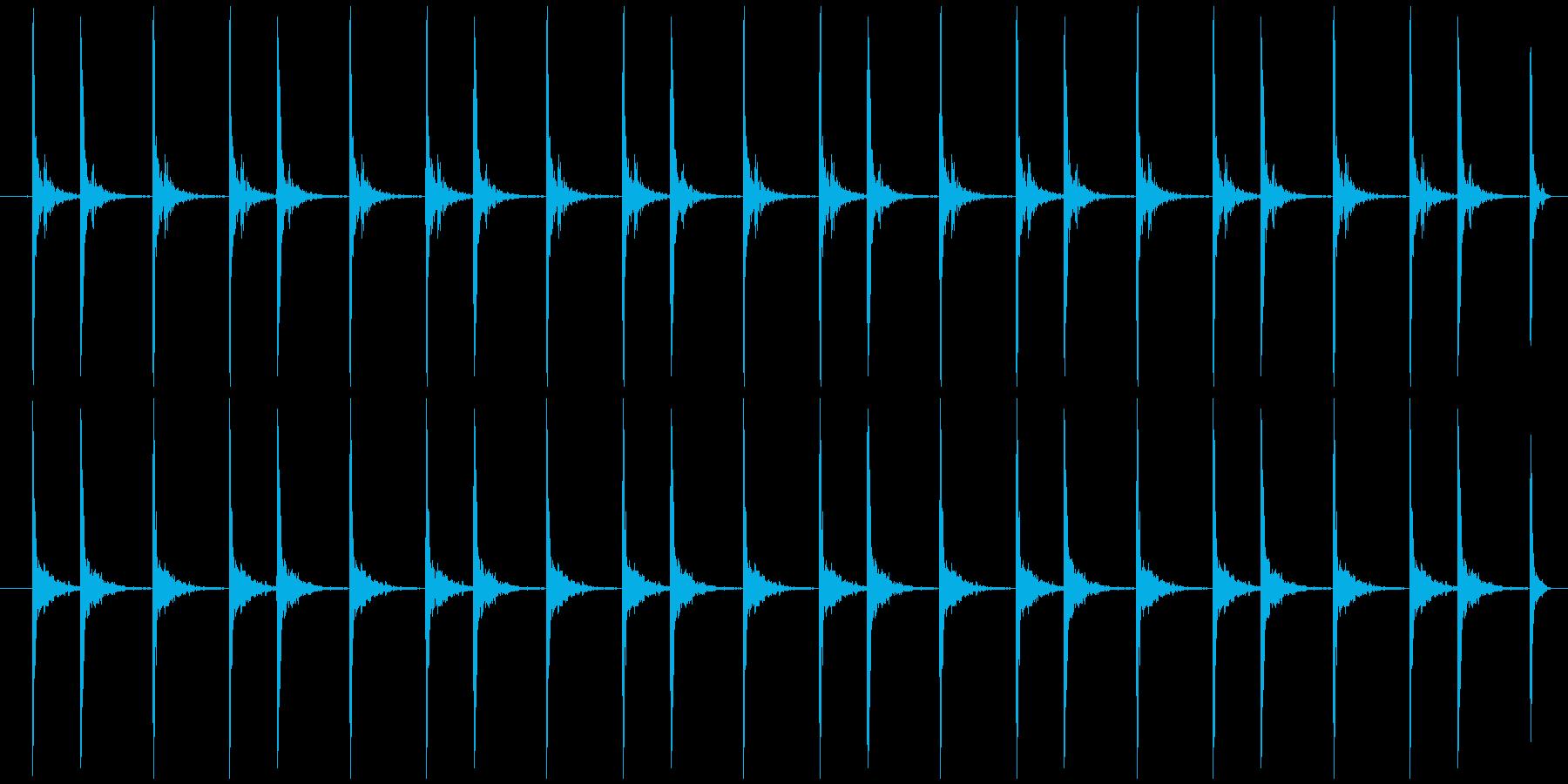 震える慌てる カタカタカタ…の再生済みの波形