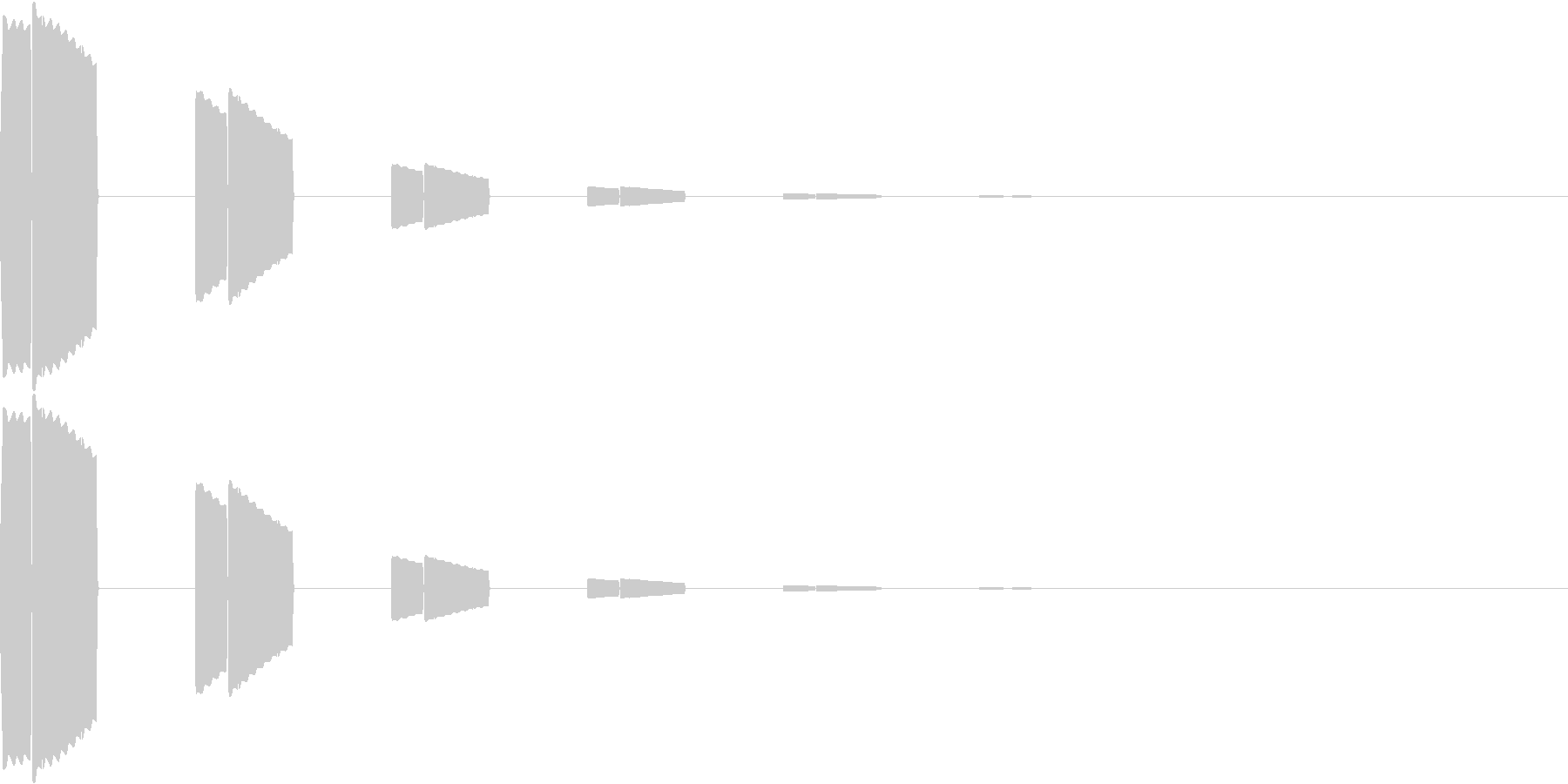 ボタン・カーソル・操作音 「ピロピロ…」の未再生の波形