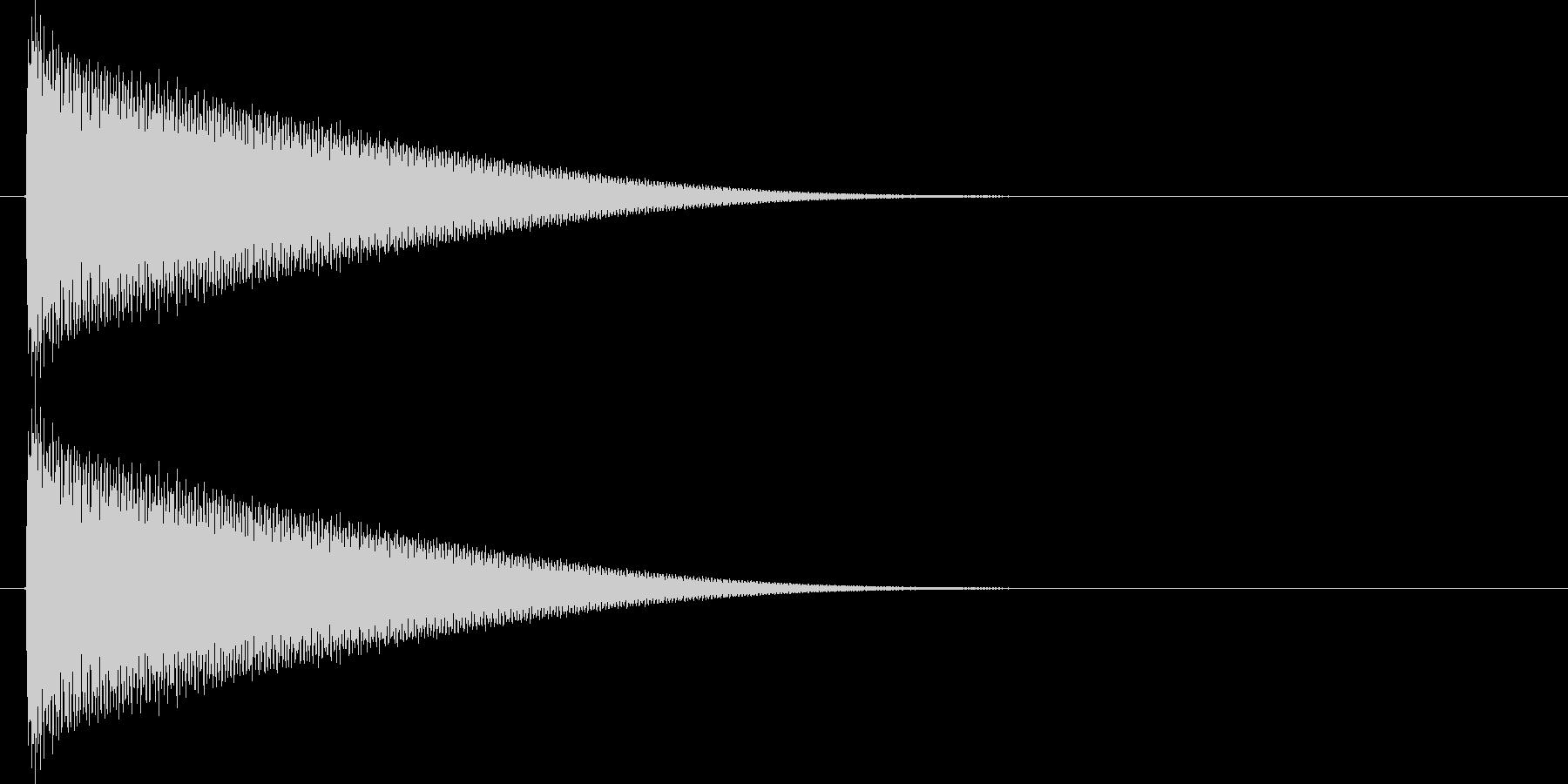 金属的な響きの未再生の波形