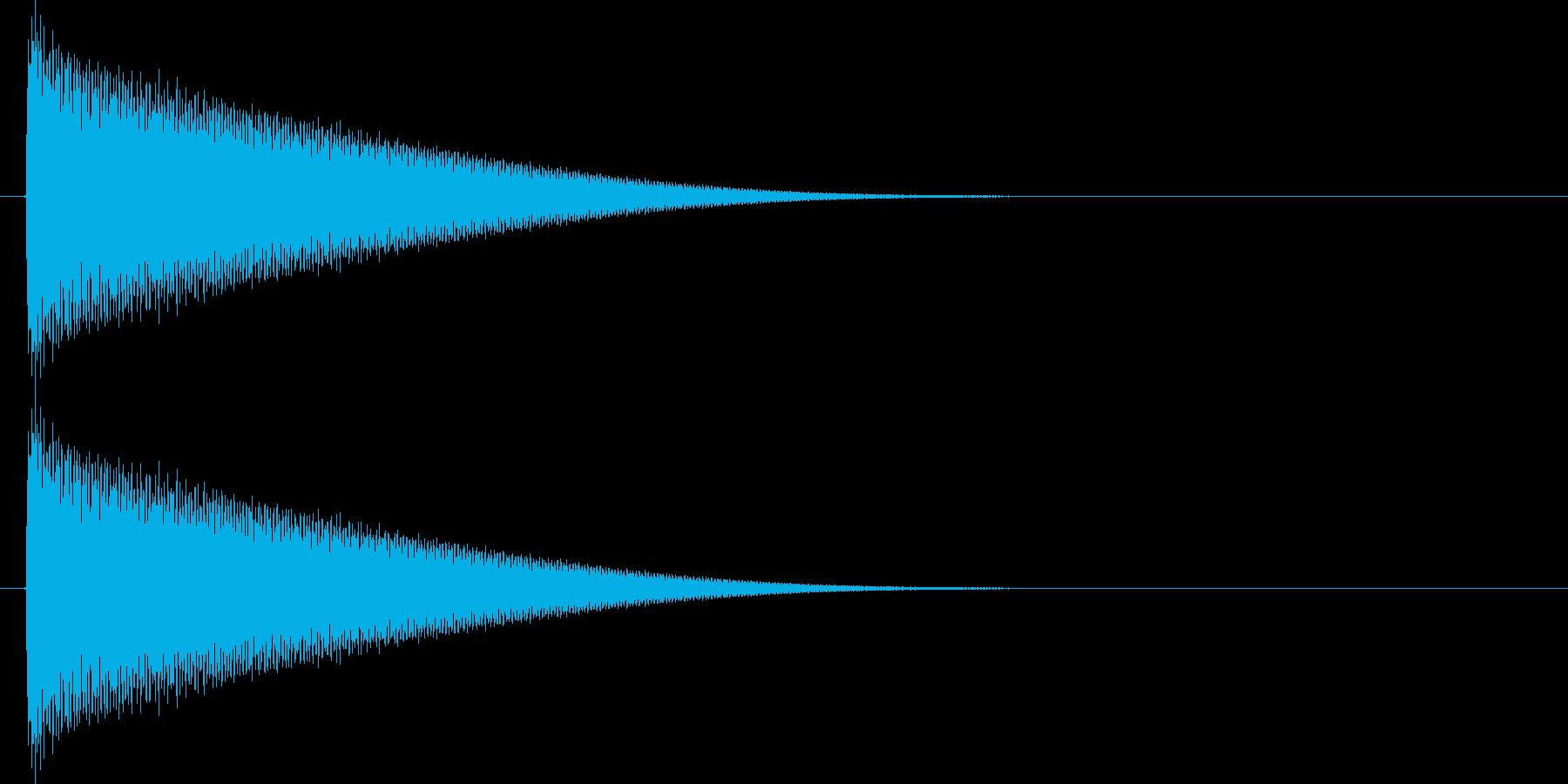 金属的な響きの再生済みの波形