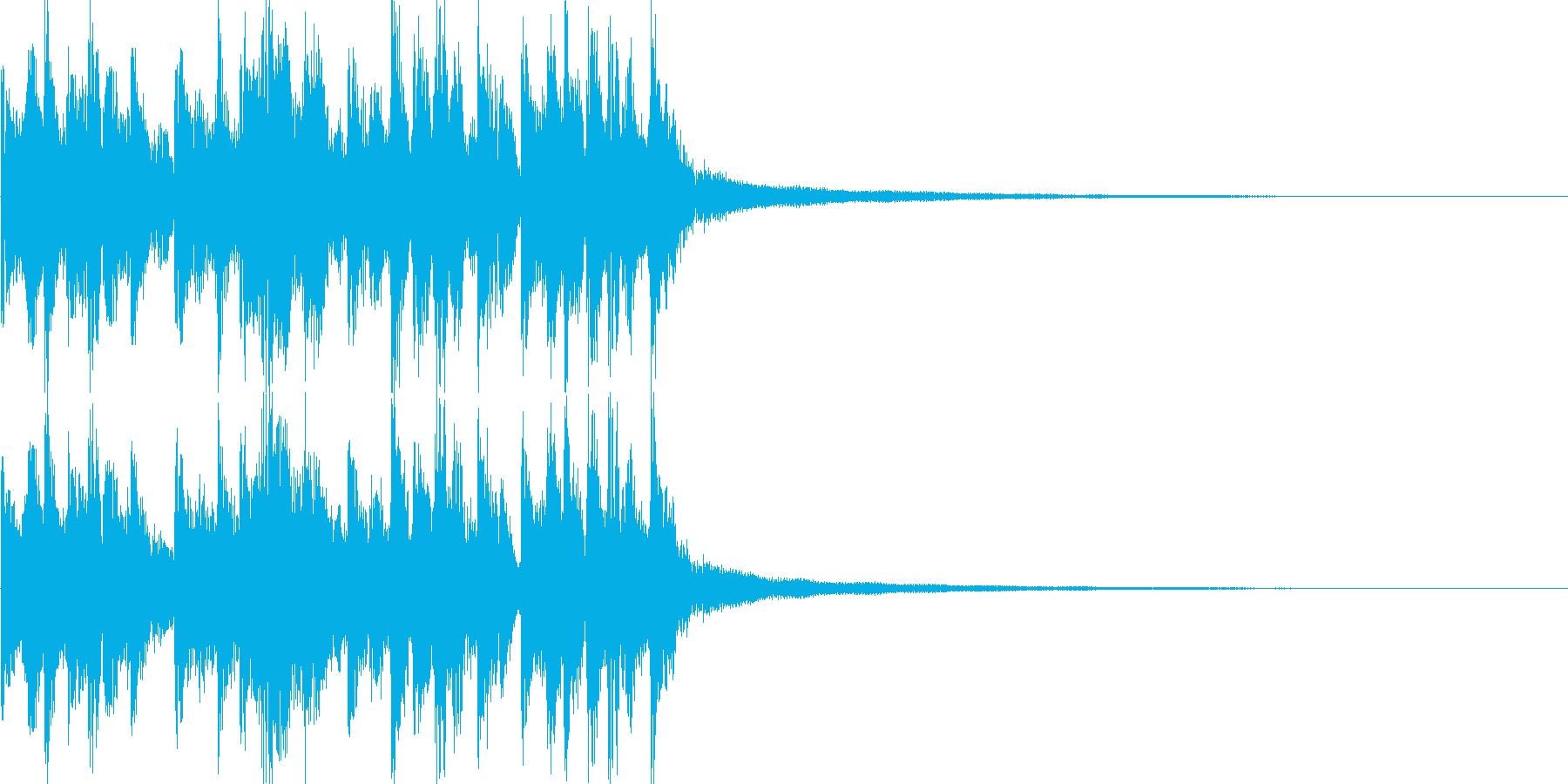 艶やかなギター ジングル/サウンドロゴの再生済みの波形
