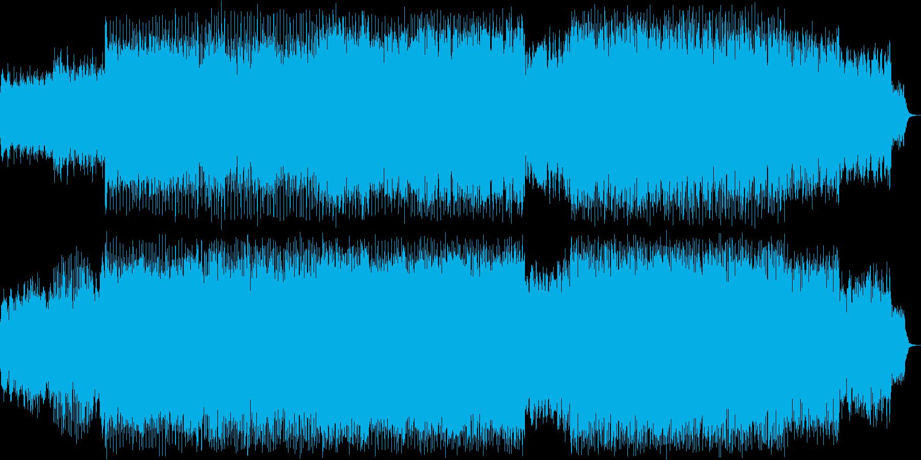 おしゃれなシンセサイザーハウス系ポップの再生済みの波形