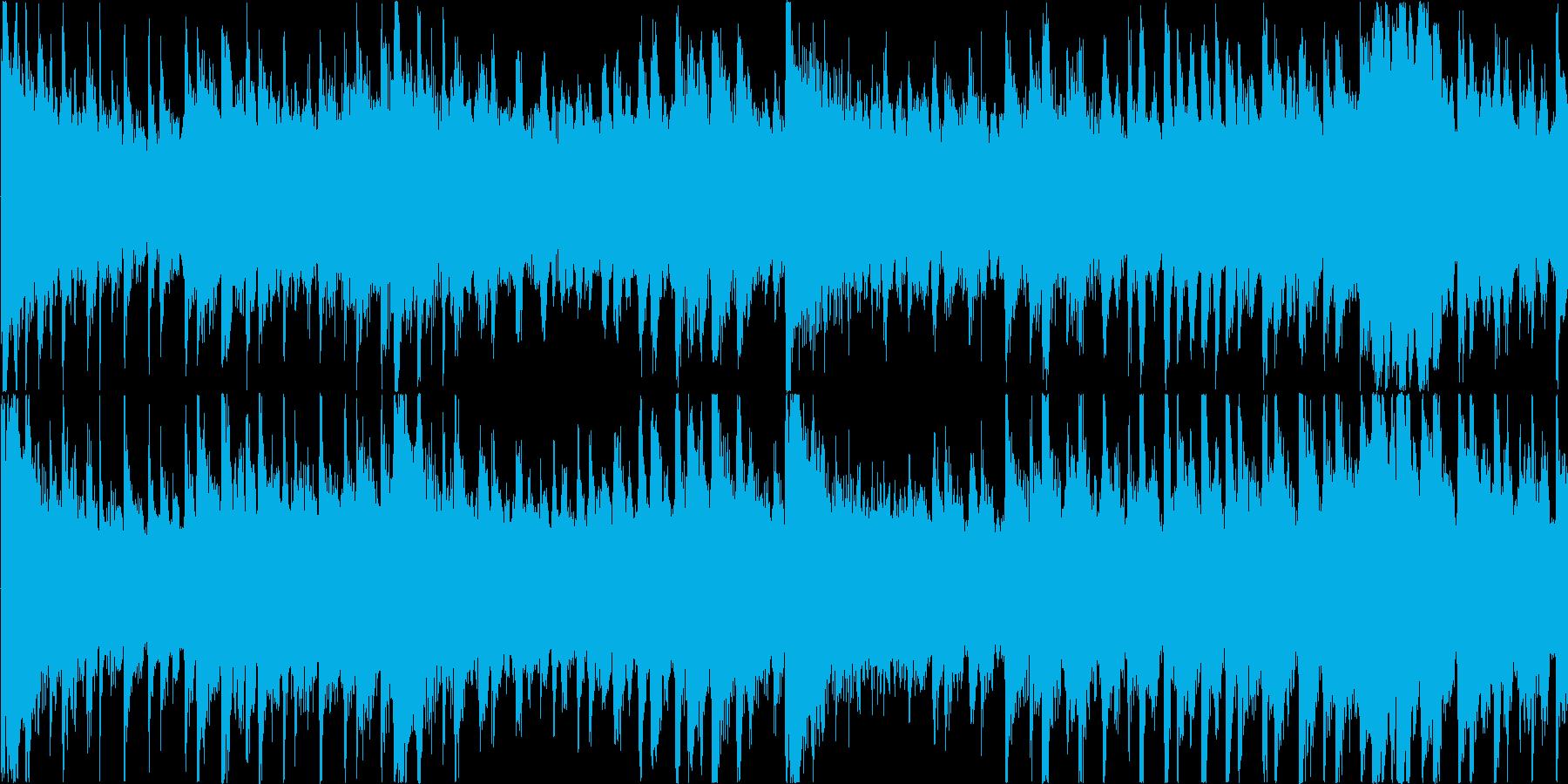 ミステリアスで不安を感じるアンビエントの再生済みの波形
