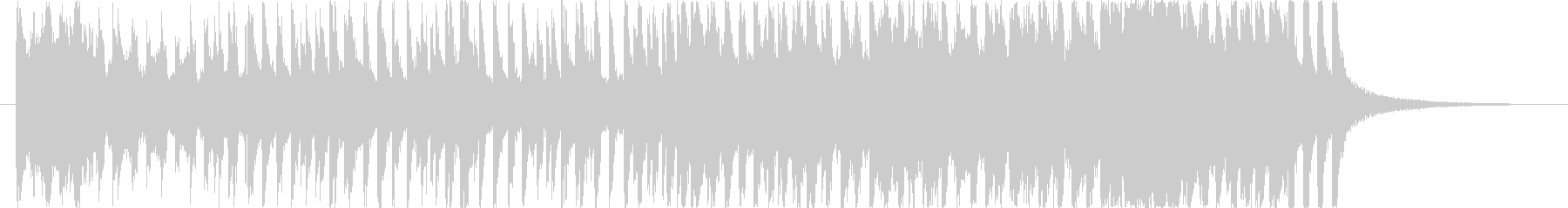 軽快な雰囲気のポップスの未再生の波形