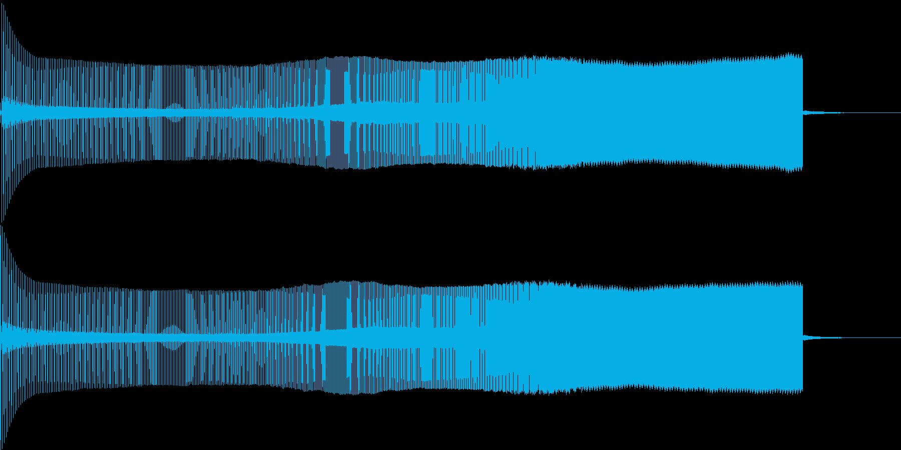 8ビット風上昇音の再生済みの波形