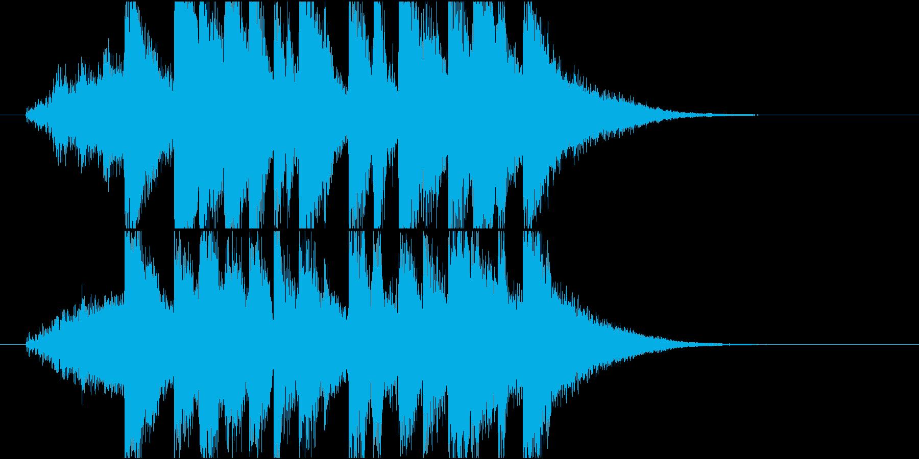 アニメ風のかわいいアイキャッチの再生済みの波形