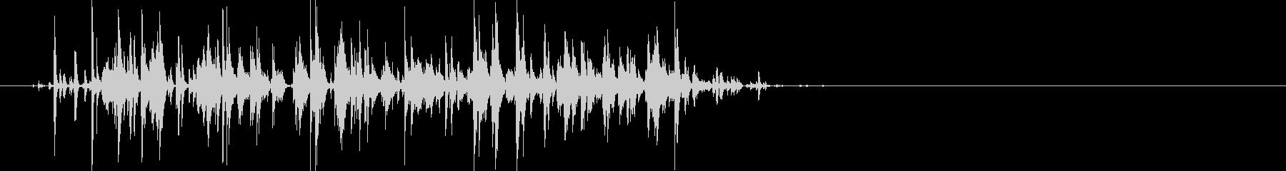 じゃらじゃら…大きめの鈴の音の未再生の波形