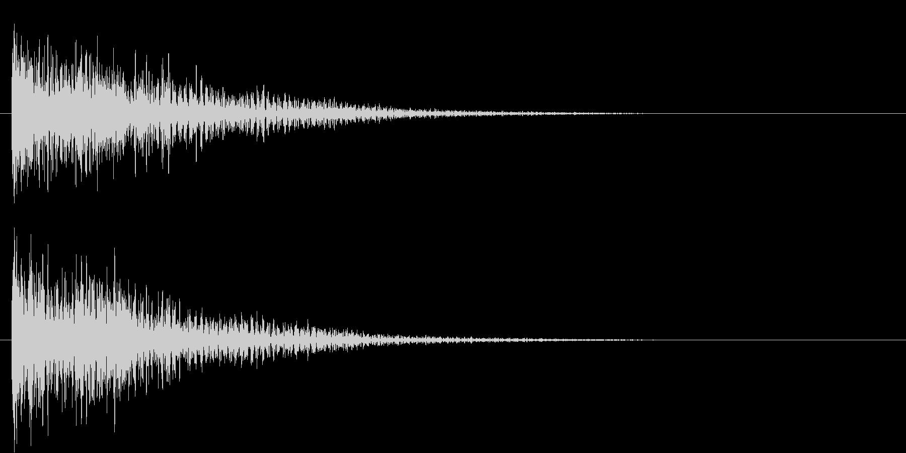 ドーン(低音・映画予告・金属系のSE)の未再生の波形