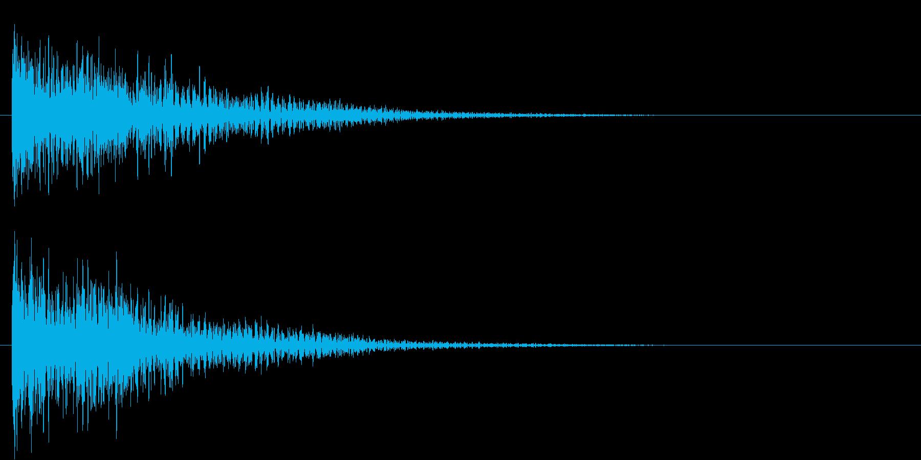 ドーン(低音・映画予告・金属系のSE)の再生済みの波形