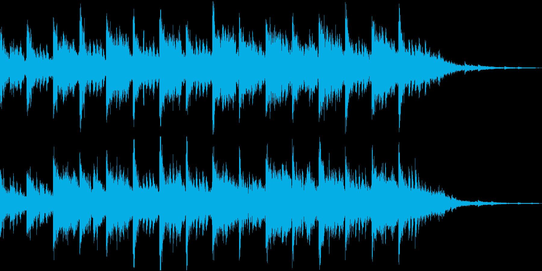 和風なシンセジングルの再生済みの波形