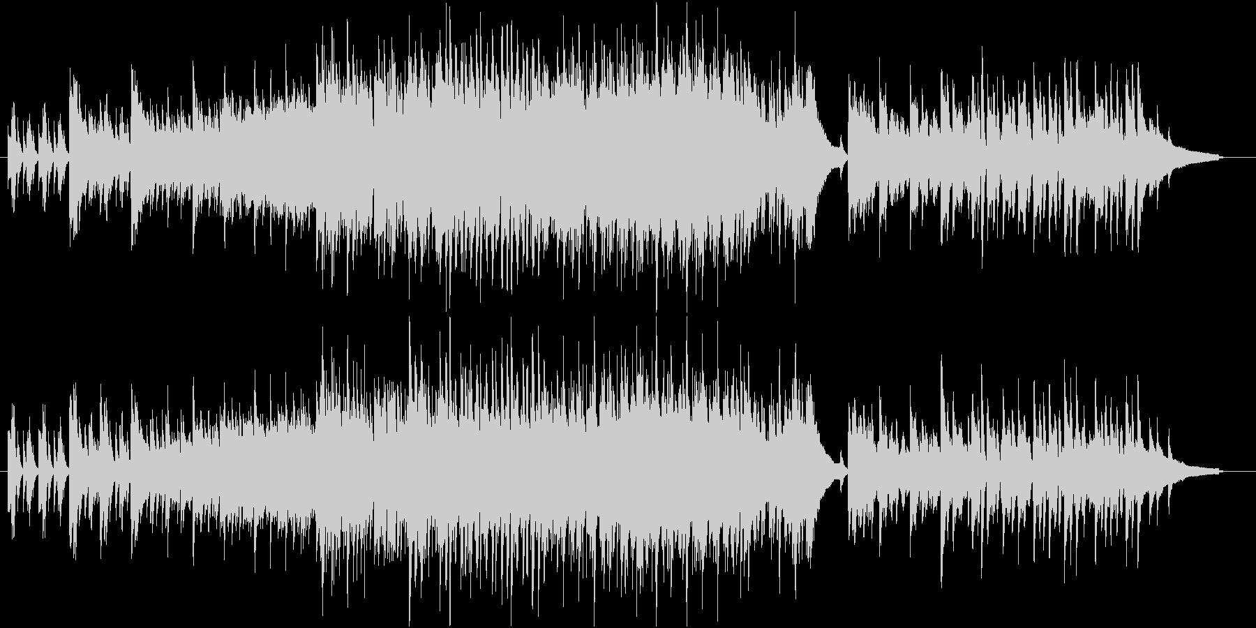 夕焼けイメージのカッコイイジャズの未再生の波形