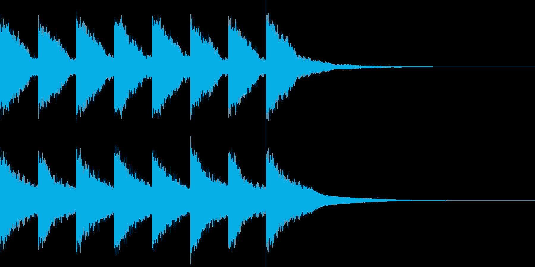 カンカン..。踏切A(高・短)の再生済みの波形