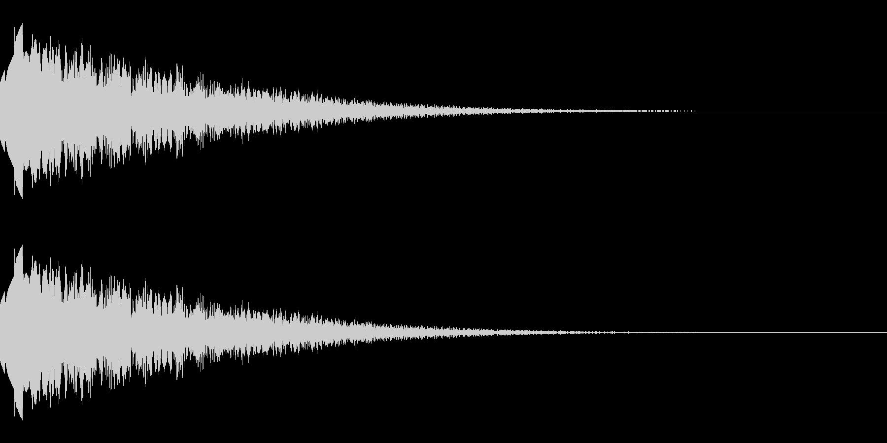 上昇するようなキラキラ音(経験値/能力)の未再生の波形