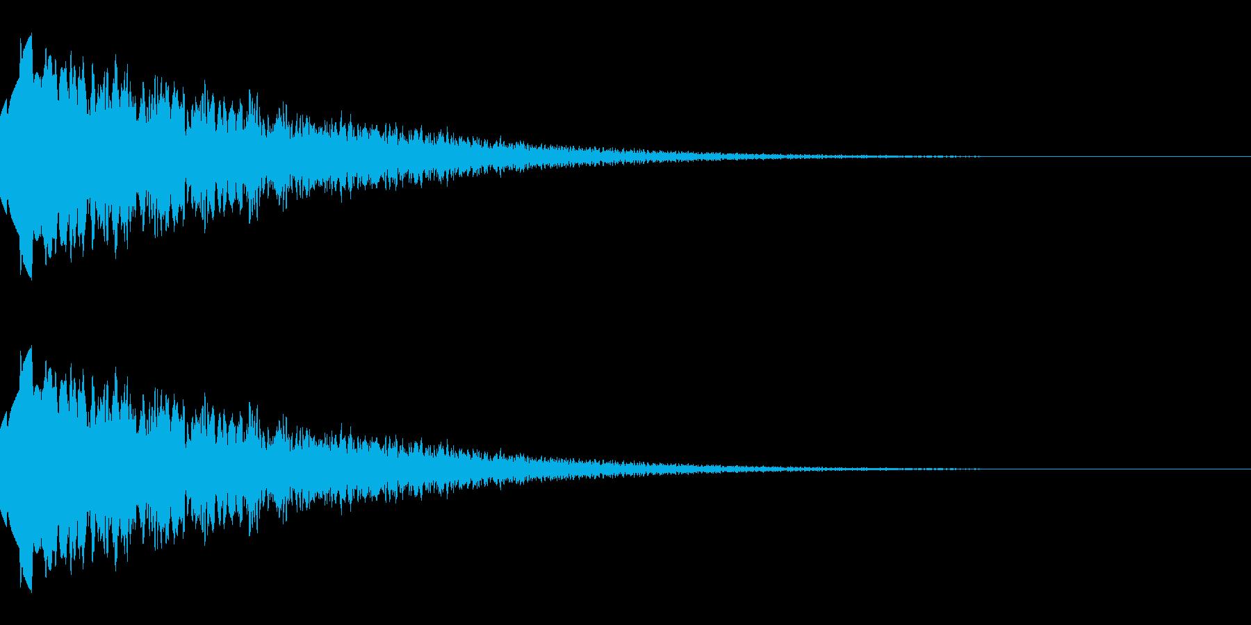 上昇するようなキラキラ音(経験値/能力)の再生済みの波形
