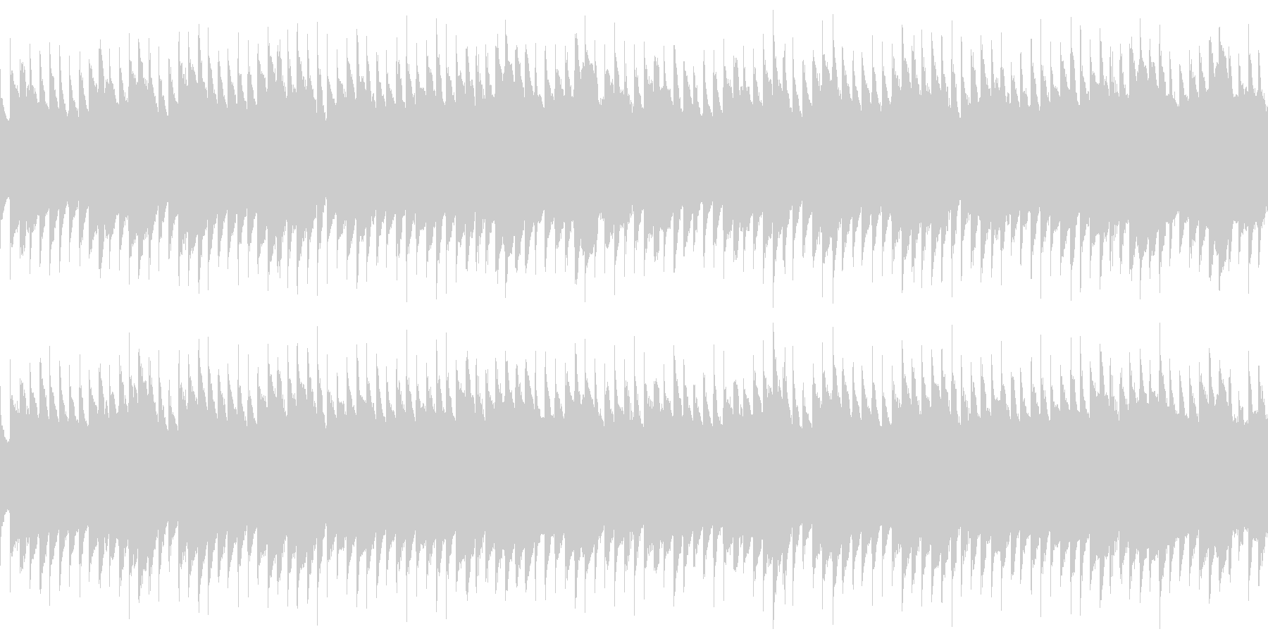 オルゴールアルペジオの未再生の波形