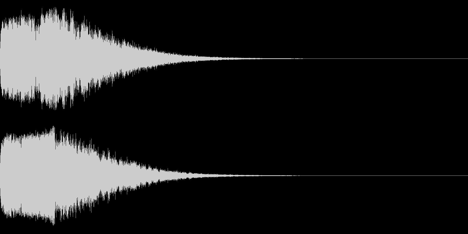 キラキラ♪クリア,達成,回復等に最適1sの未再生の波形