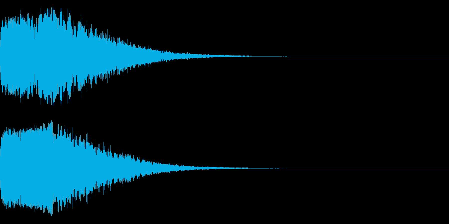 キラキラ♪クリア,達成,回復等に最適1sの再生済みの波形