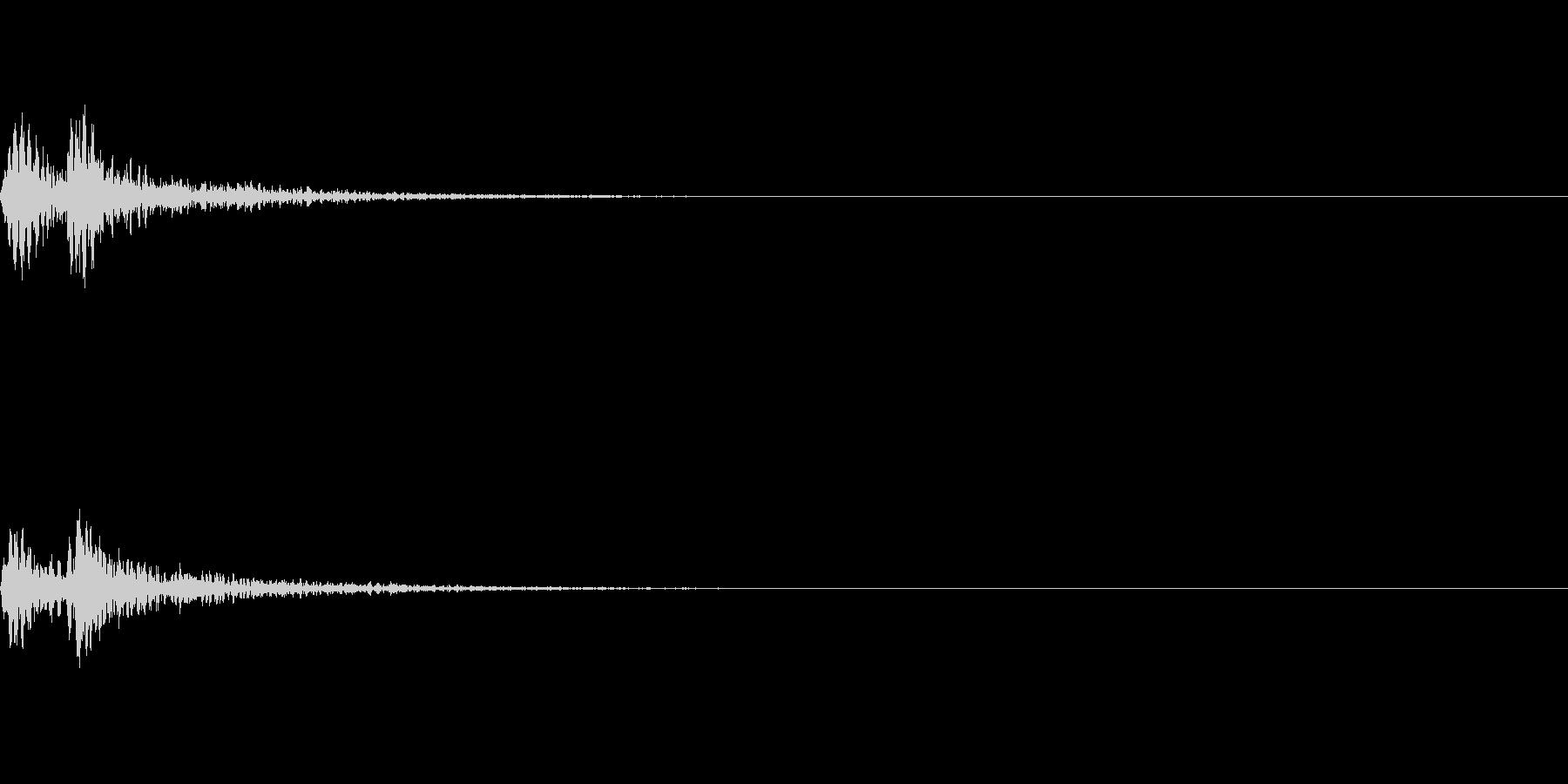 トトン 締太鼓(低い) 和楽器 決定音の未再生の波形