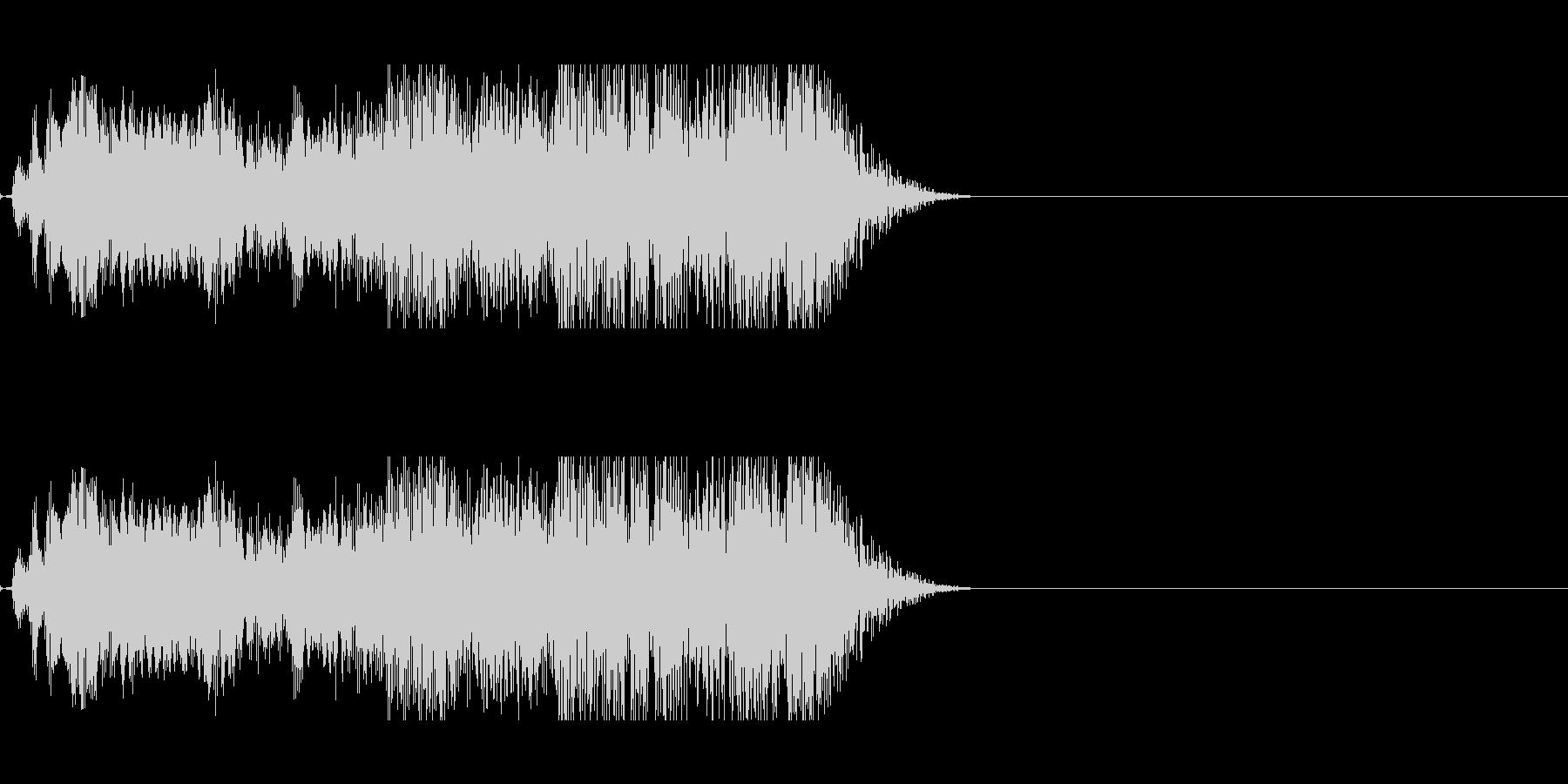 不気味に響く声らしき音…2の未再生の波形