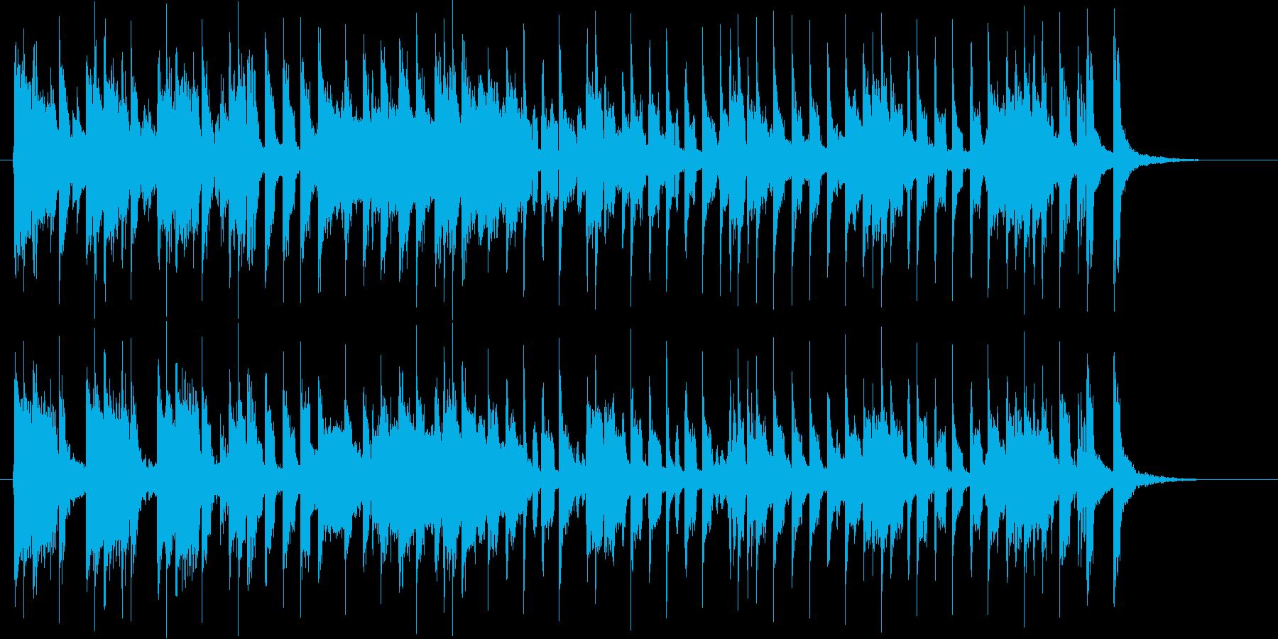 軽快で元気なシンセポップジングルの再生済みの波形